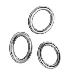 Stainless steel Open jump ring 5 x 0.8mm
