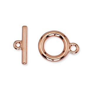 Toggle Clasp 14mm One Strand Rose Gold