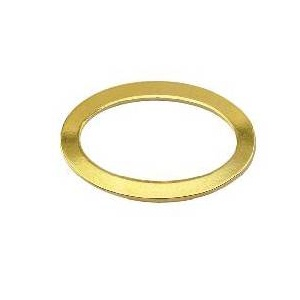 Ring Oval 12 x 18mm Gold Plated