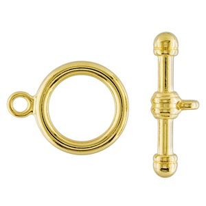 Toggle Clasp 22mm 1 Strand Gold Plated
