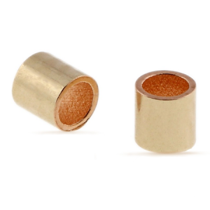 Crimp Tube Bead 1.5 x 2mm Gold Plated