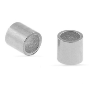 Crimp Tube Bead 1.5x2mm Silber Plated