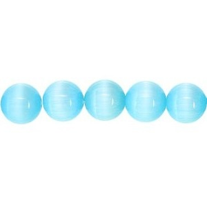 Cats Eye Bead round 6mm Turquoise