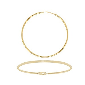 Hoop Ear Ring 30mm Gold Plated