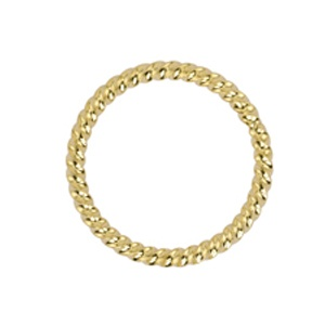 Solid Ring 16mm Gold Plated