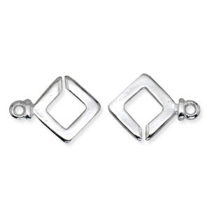 Toggle Clasp 30mm Square Silver Plated
