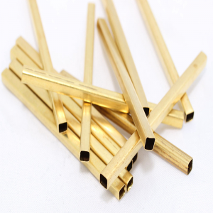 Square Tube Bead 29mm Brass Gold plated