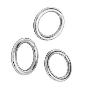 Open jump ring 6 x 1mm Brass Rhodium plated