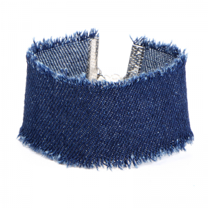 Jeans Armband 23cm Denim Marine Blau Light