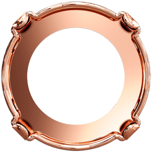 Setting for Swarovski Rivoli 14mm Rose Gold plated