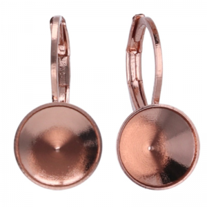 Earring Setting SS39 Rose Gold Plated Swarovski Chaton
