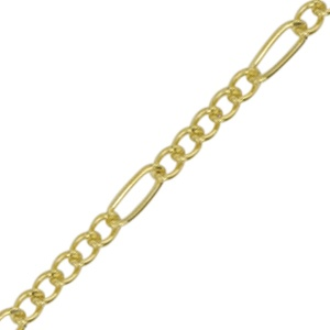 Chain Figaro 2.2mm Gold Plated