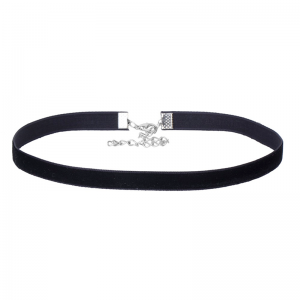 Black Velvet Choker Necklace 33cm + 7cm Extension chain