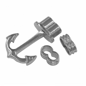 Anchor clasp 39mm rhodium plated