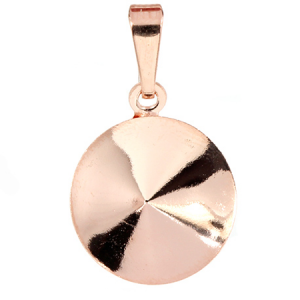 Bezel Cup Rose Gold Plated 14mm for Swarovski Rivoli 1122