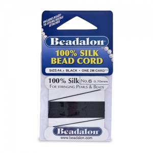 Beadalon Silk Thread 0.70mm Black