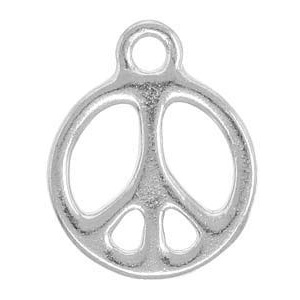 Tierracast Pendant 19mm Peace Antique Silver