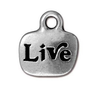 Tierracast Pendant 14mm Live Antique Silver