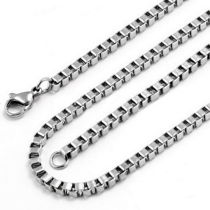Stainless steel box chain 55cm with Lobster Clasp