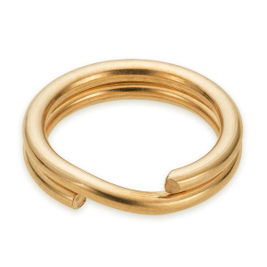 Split Ring 6mm Gold Plated