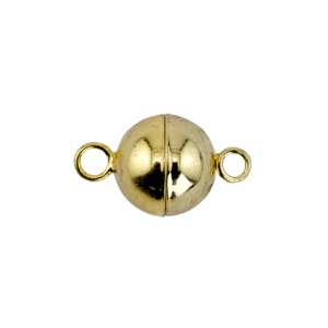 Magnetic Clasp 8mm Gold Plated