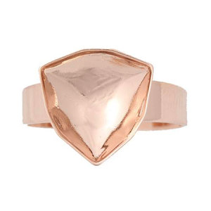 Ring Setting Rose Gold Plated 12mm for Swarovski Trilliant 4706