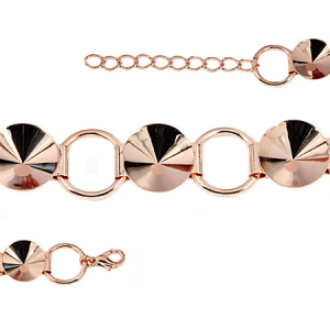 Rivoli Bracelet 16.5cm Rose Gold plated with Lobster Clasp