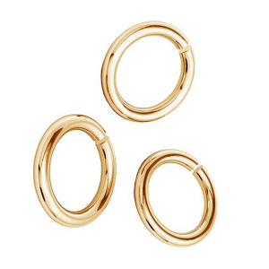 Open jump ring 5mm Brass Gold plated
