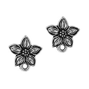 Tierracast Post 13mm Star Jasmine Antique Silver