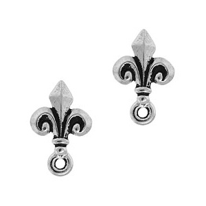 Tierracast Post 14mm Fleur De Lis Antique Silver