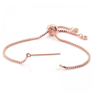 Bracelet with Pin adjustable Rose Gold plated
