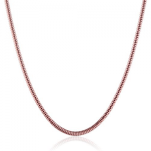 Snake Chain 45cm Rose Gold plated with Lobster Clasp