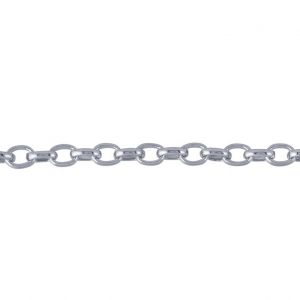 Rolo Chain 45cm Rhodium plated with Lobster Clasp