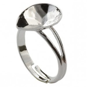 Ring Setting Rhodium Plated 14mm for Swarovski Drop 4320
