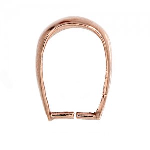 Bail 4.5 x 9.5mm Rose Gold Plated