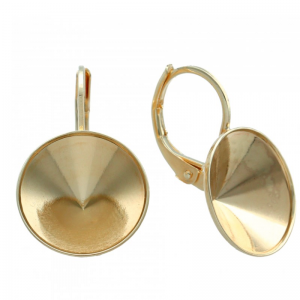 Earring Gold Plated 13mm for Swarovski Chaton SS 55
