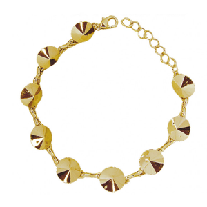 Rivoli Bracelet 16.5cm Gold plated with Lobster Clasp