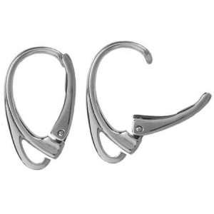 Earwire 18mm Rhodium Plated