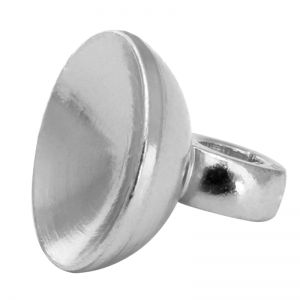 Peg Drop Bail 8mm Silver Plated