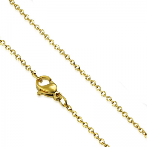 304 Stainless steel oval chain 45cm with Lobster Clasp Gold