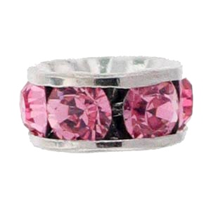 SWAROVSKI ELEMENTS Rondell Silber 6mm Light Rose