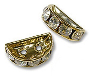 SWAROVSKI ELEMENTS Rondell Gold Halbmond 13 x 6mm Crystal