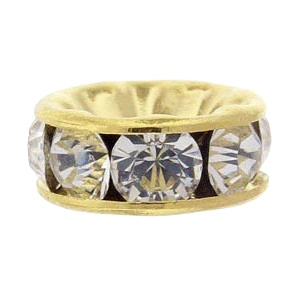SWAROVSKI ELEMENTS Roundelle 4.5mm Gold Plated Crystal