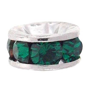 SWAROVSKI ELEMENTS Rondell Silber 6mm Emerald