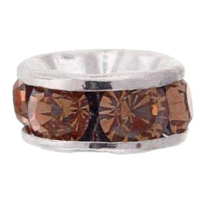 SWAROVSKI ELEMENTS Rondell Silber 6mm Smoked Topaz