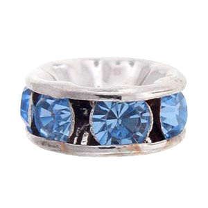 SWAROVSKI ELEMENTS Rondell Silber 6mm Light Sapphire