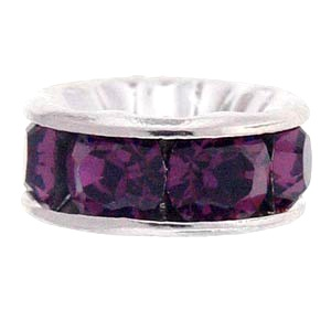 SWAROVSKI ELEMENTS Rondell Silber 6mm Amethyst