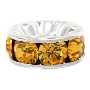SWAROVSKI ELEMENTS Rondell Silber 4.5mm Light Topaz