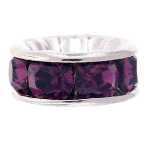 SWAROVSKI ELEMENTS Rondell Silber 4.5mm Amethyst