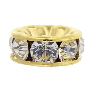 SWAROVSKI ELEMENTS Rondell Gold 8mm Crystal